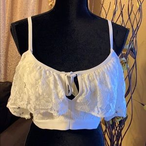 bebe Tops - *New Gorgeous Lace Bebe crop top